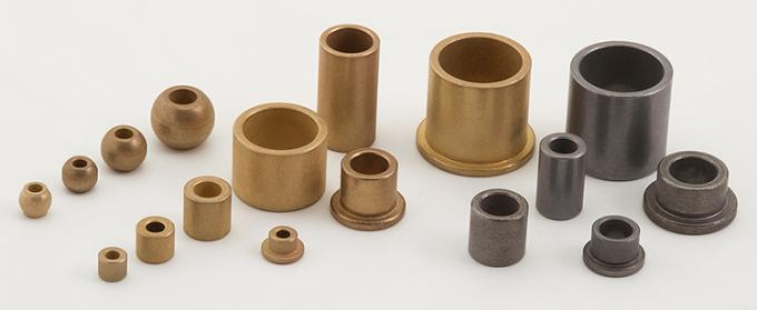 SAE660 C93200 Turned Cast Bronze Cylindrical Bearings Flange Bushing With Lubrication Grooves
