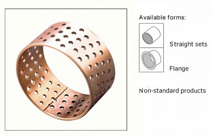 Diamond Bronze Bearings Made Of Cusn8 With Lubrication Indents Stock Standard Dimensions Tolerance