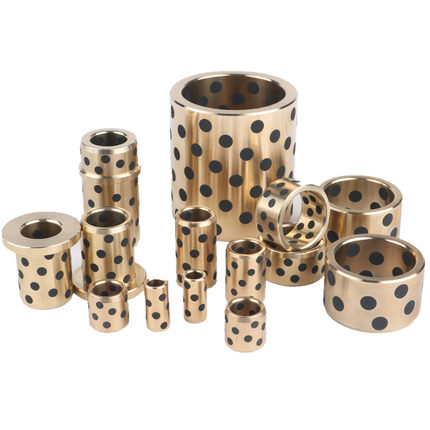 Heavy Equipment / Mining MFG Bushes Tight Tolerance Precision Manganese Bronze Flanged Bronze Graphite Plugged Bushings