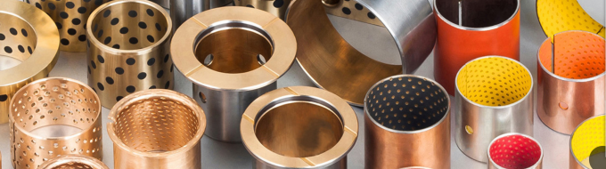 Self Lubricating Flanged Sleeve Bearing | Bronze High Temperature Resistance 092 Holes Bushings
