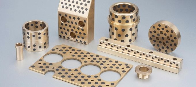 Mould & Injection Copper Self Lube Wear Plates With Graphite Inlaid Bronze Bushings Retainers