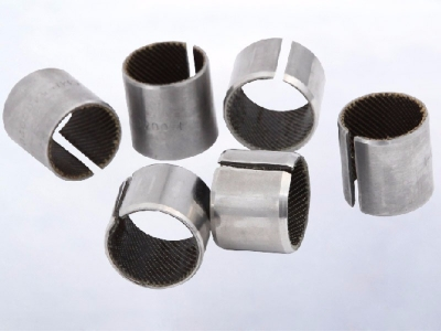Woven Glide Bushing Sliding Bearings Bore Size | Coiled Stainless Steel Fabric Self-Lubricating Bearings Ptfe/Kevlar