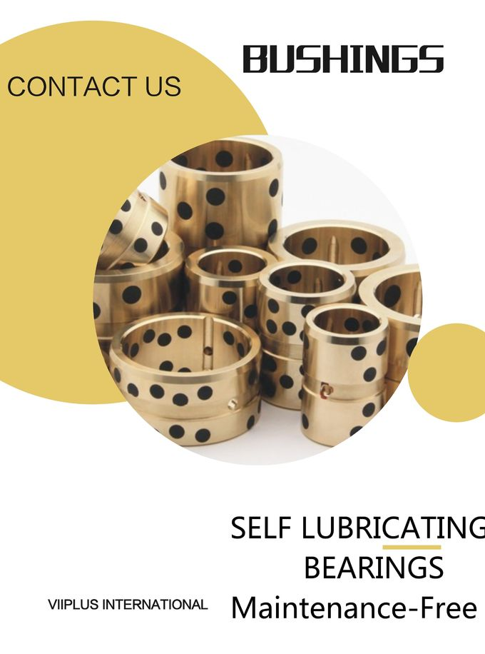 Metal Backed Oilless Bearing Plain Bearing Self Lube With High Temperature Resistance