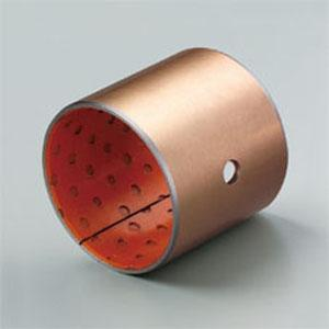 Orange POM Colour Polymer Plain Bearings Slit Greasing Hole Bronze Bushings