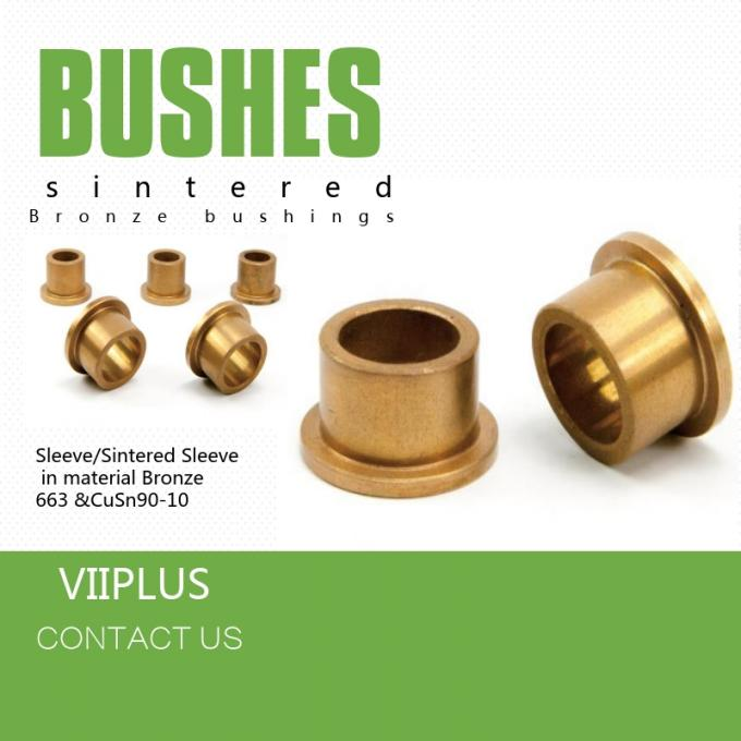 Sintered Bronze Oil Impregnated Self Lubricating Sleeve Bearings Good Corrosion Resistance