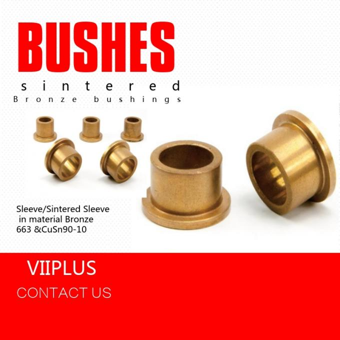 Compression Moulding Sliding Bearing & Plate , Over - Molded Self Lube Bushings Customized