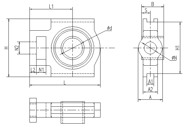 UCT Dimension Specification Table Of Flanged Sleeve Bearing With Seat , Long Life