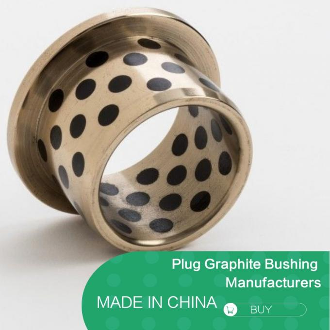 C86300 430B Manganese Cast Bronze Flanged Graphite Bushing Bearing & Plate Oil Grooves