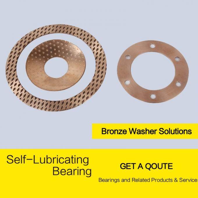 Diamond Shaped CW453K CuSn8 Phosphor Bronze Bushes & Washer Indentations Or Oil Grooves Holes