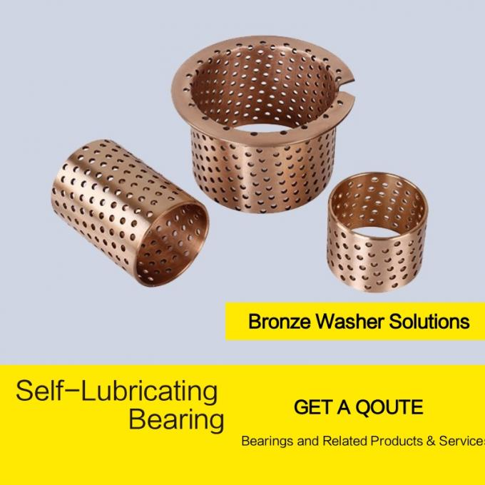 Wrapped Phosphor tin bronze CuSn8/CW453K & CuSn6/CW452K Self Lubricating Plain Bearing , Cylindrical Oilless Bushing