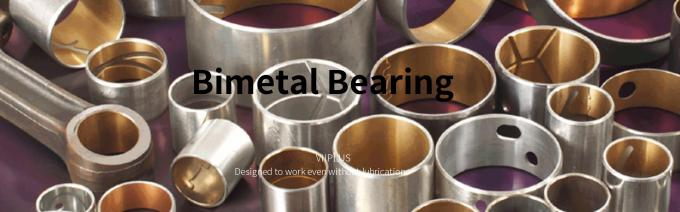 Bimetal Bearings Steel shell backed with a lead bronze lining bearing material for oil lubricated applications.