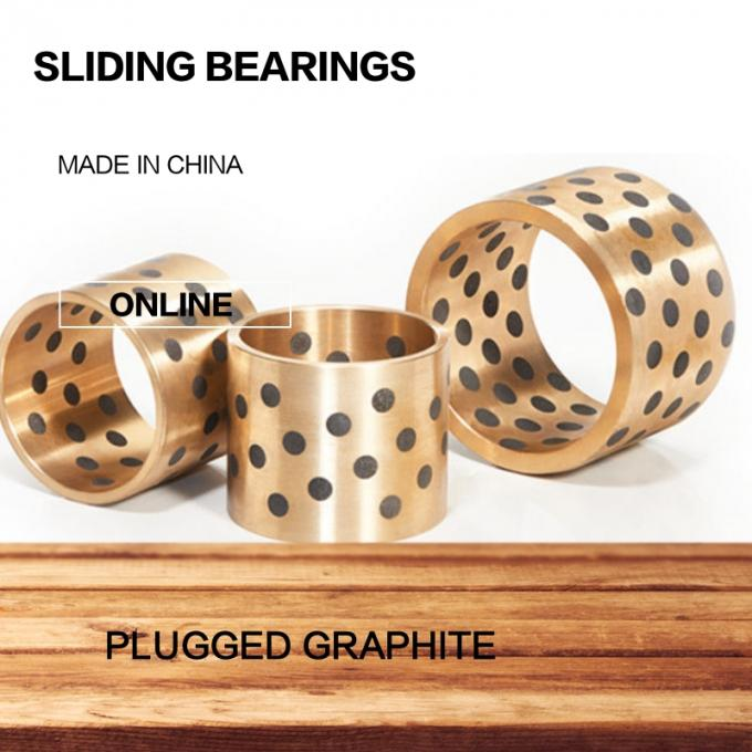 Embeded Solid Lubricating Bearings Turned Non Standard Cylindrical Bearing