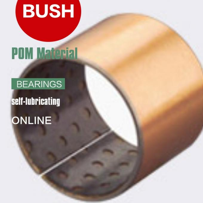 High Load Impact Vibration Resistant  Composite Inch Dimension Thrust Washer Copper Sleeve BLACK POM Bushings