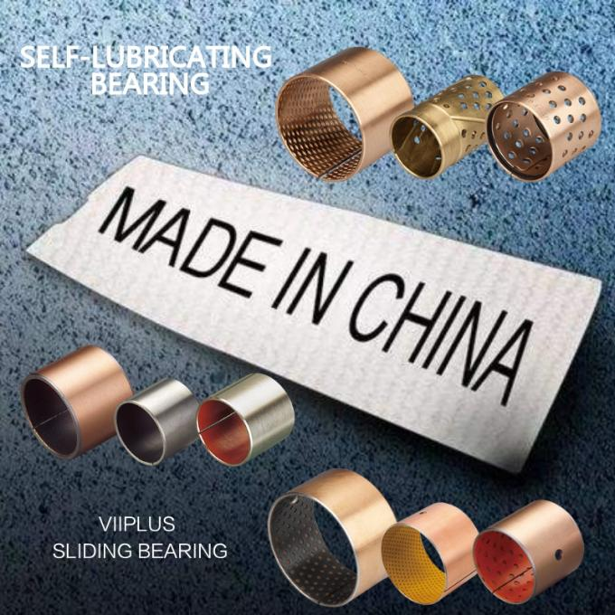 Solid Turned Bronze Bushing Heavy Maintenance Grooved Cast Bearing