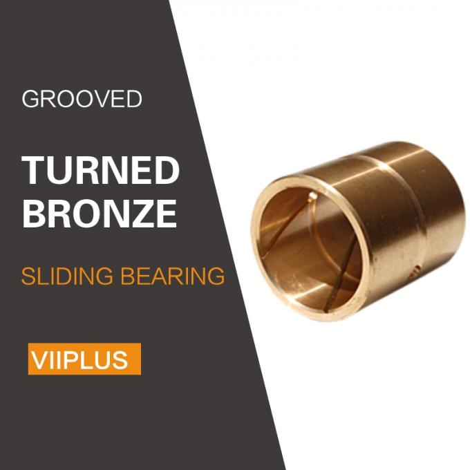 Lubrication Hole Grooves Turned Tempered Cylindrical Manganese Bronze Sliding Bearing For Highest Strain & Impact Load