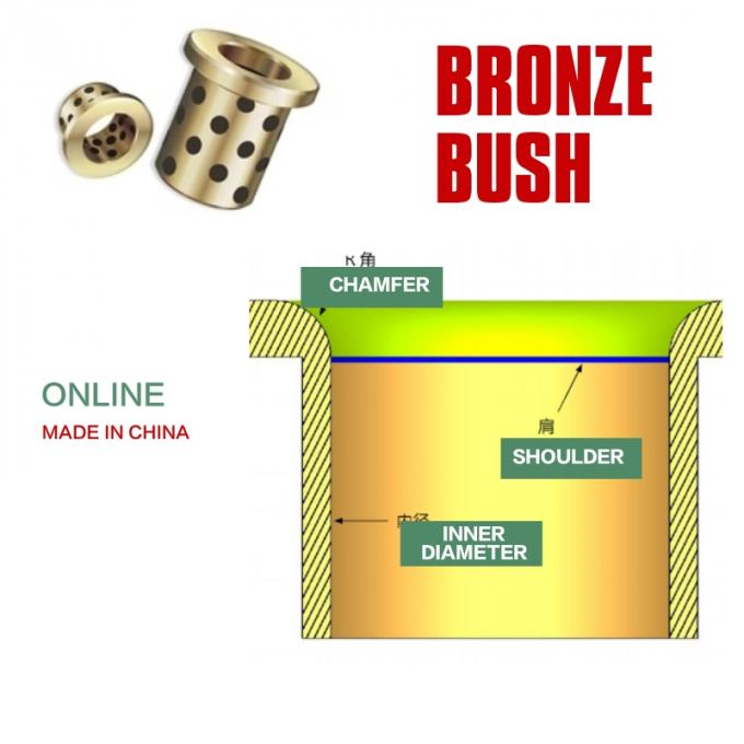Shoulderless Bronze Guide Groove Sleeve Bush Slides & Cams Can Be Axially Secured