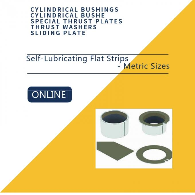 PTFE Composite Flat Strips Bushings, Carbon Steel Sintered Bronze Inch &  Metric Sizes