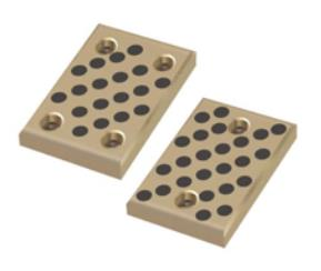 Brass 500 SWP Wear Bronze Plate With Graphite Embedded Mounting Hole