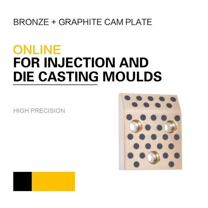 Mould DME Standard Elements Bronze Graphite Cam Plate For Injection & Die Casting Moulds