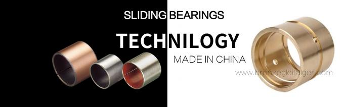 CNC Plugged Graphite Cast Bronze Sleeve Bearings For Oil / Grease Scrapers