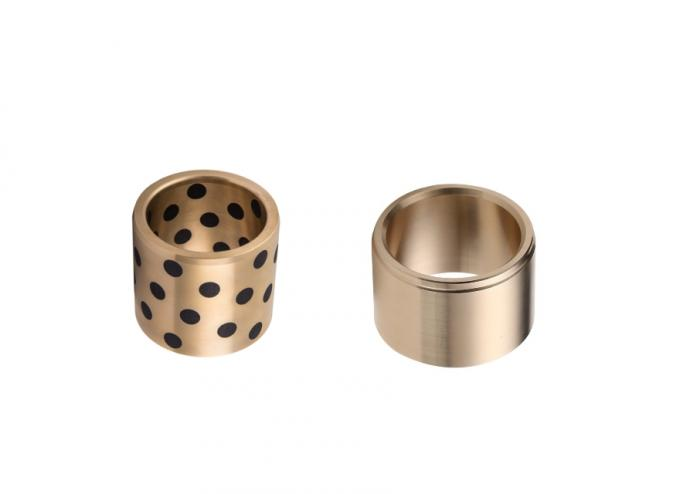 Bronze With Embedded Solid Lubricant Straight Bushing 45 Mm ID 55 Mm OD 40 Mm Length