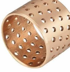 DIN 1494 / ISO 3547 Sleeve Tin Bronze CuSn8  Plain Bearing Rolled Bushes With Lubrication Grease Holes supplier