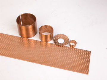 China Oil hole Bronze material Plain Bearing Strips | CuSn8P0.3 or CuSn6.5P0. 1 Metric Bronze Bushings Sheet Strip factory