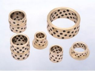 Metal Manganese Bronze Graphite Sleeve Bearings Gleitlager For Mineral Machines supplier