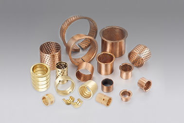 Easy to Assemble High Load Capacity CuSn8 Sleeve Bronze Flanged Sleeve Bearings supplier