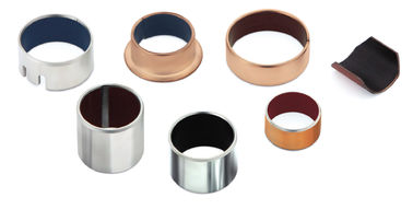 China Rolled Self Lubricating Plain Bearing | Dry Sliding Bearing Gerollte Trockengleitlager CuSn8 bronze factory