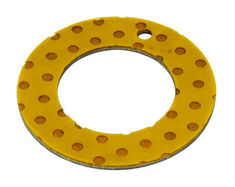 Oilless Steel Slide Bearing Plates Poriferous Bushings POM Thrust washer supplier