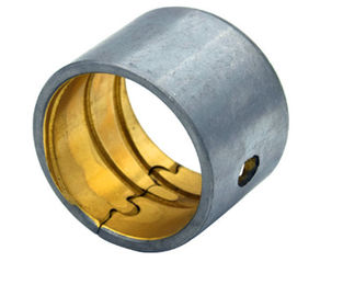 Hydraulic Pumps Bushing BiMetal Self Lubricating Steel Bronze Plain Bearing Tin / Copper Plating supplier