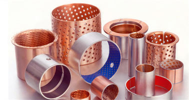China Boundary Lubricating Bronze Flanged Sleeve Bearings , Teflon Flange Bushing factory