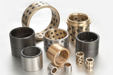 Oilless Solid Lubricant Bearings , Metal Manganese Cast Bronze Bearing supplier