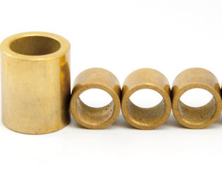 China sintered self-lubrication graphite impregnated flanged oilite bronze bushings factory