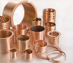 Mining CuSn8 Bronze Bearing Cylindrical with Holes 092 Flanged Sleeve Bushes supplier