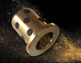 Cast Bronze Bushings Solid Lubricant Bearings Hydraulic Equipment Components For Cylinders