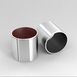 Red PTFE Corrosion Resistance Stainless Steel Bushings For Marine Industrial Machinery supplier