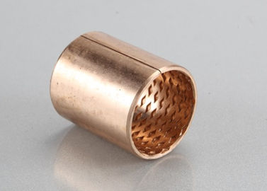 Wrapped Phosphor tin bronze CuSn8/CW453K & CuSn6/CW452K Self Lubricating Plain Bearing , Cylindrical Oilless Bushing supplier