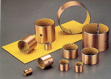 Slide Paths PAS Bronze Bushing Material Wrapped POM Lined Bushings supplier