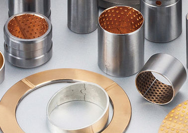 Bronze Bimetal Bushings | Carbon Steel With Tin-Lead-Bronze Alloy Cusn10pb10 Sintered supplier