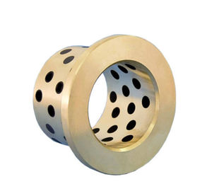 China Demountable Self-Lubricating Bronze Graphite Guide Bushing 30*40*40mm Copper Sleeve Bronze Bushing Bearing factory