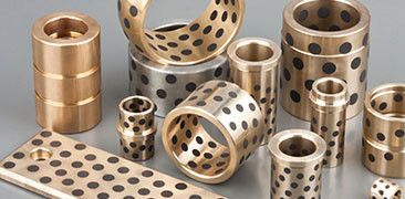 Manganese bronze bushing packaging machinery Graphite Plugged Bushings Replacement Parts For Plastic Injection Machinery supplier
