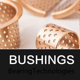 Metric Cylindrical Oilless Bushes CuSn8 & CuSn6 Bronze Or Oil / Grease Grooved supplier