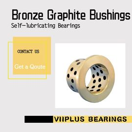China Cast Bronze Graphite Plugged Bronze Bushings | Oilless Bearings factory