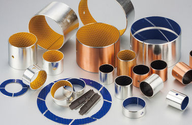 China Wrapped Acetal POM Steel & Bronze Lined Bearings Composite sliding bearing - meat slicer Bushing factory