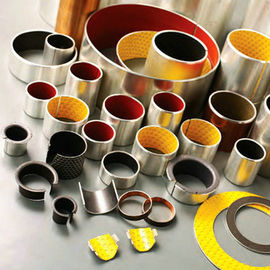 China Orange POM Colour Polymer Plain Bearings Slit Greasing Hole Bronze Bushings factory