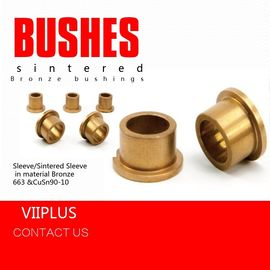 China Gold Color Sintered Bronze Bush SAE 841 Bronze 663 CuSn90-10 & Stainless Steel factory