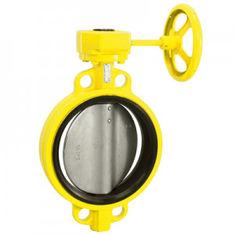 Locking Lever Handle Butterfly Valve Bushing Fiberglass And 316 Stainless Steel With TFE Lining