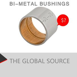 China SAE799 Bimetal Bearing Bushes CuPb24Sn4 Material JF -720 Plain Bush Bearing factory